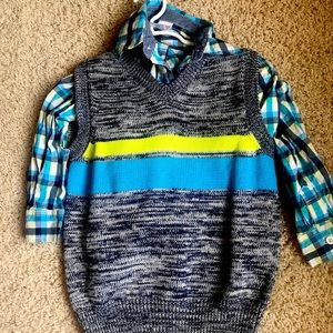 Boys Gymboree vest and long sleeve button up shirt